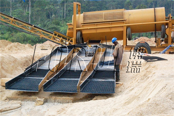 Gold Mining Trommel Screen and Sluice Box