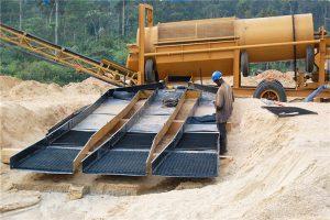 Gold Mining Trommel Screen and Sluice Box