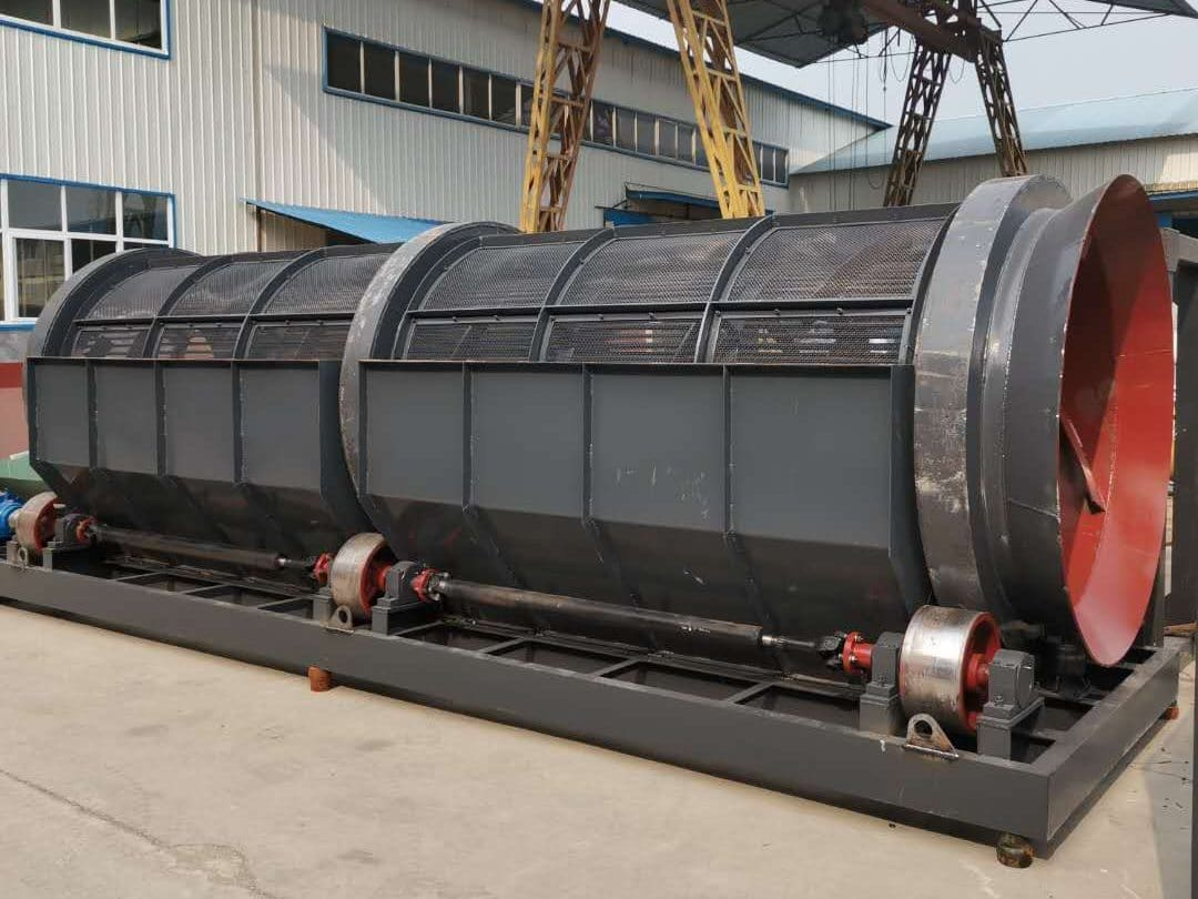 Trommel Screen for alluvial gold beneficiation production line