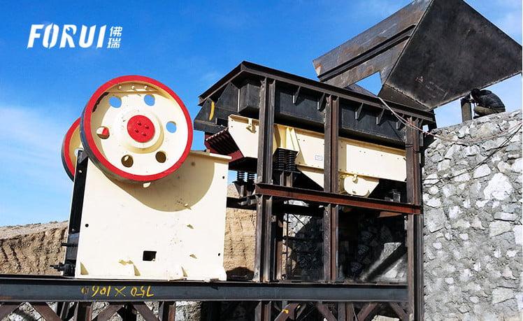 Gold Beneficiation Equipment - Jaw Crusher Work Site