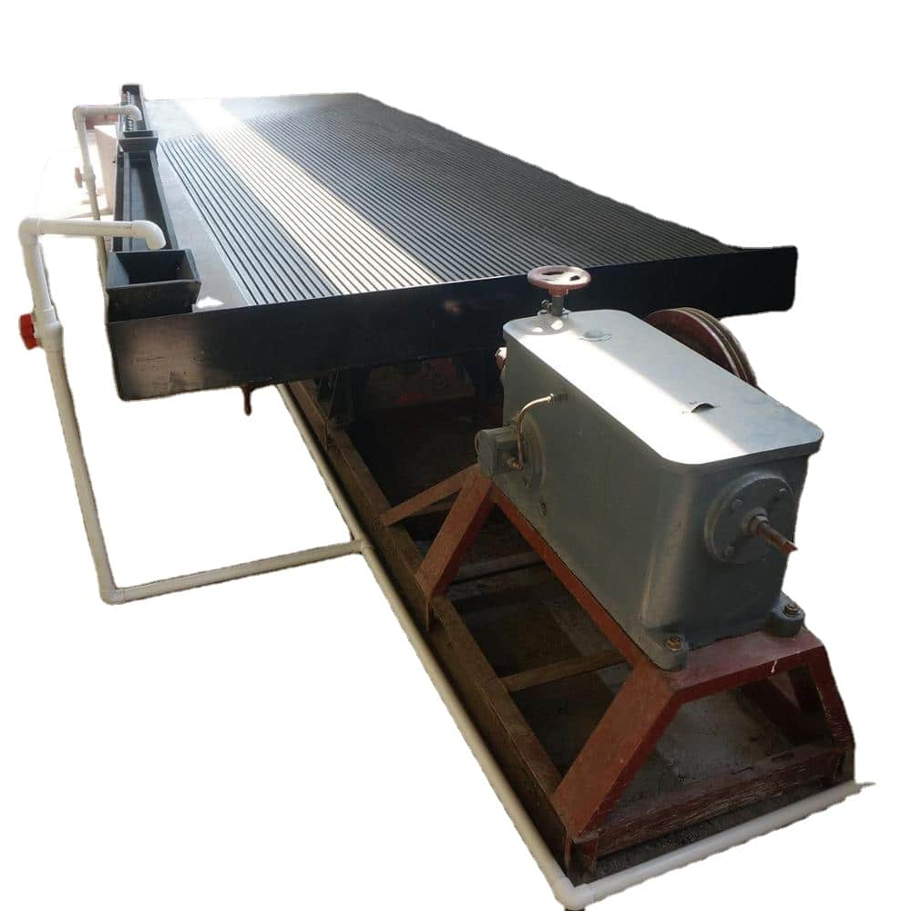 Shaking Table for Alluvial Gold Beneficiation in Africa